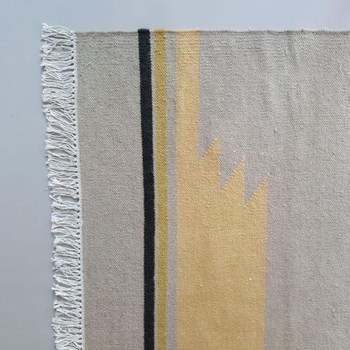 santa fe wool dhurrie rug, handmade in india, eco & fair. new zealand wool, organic dyes, Bonam Home