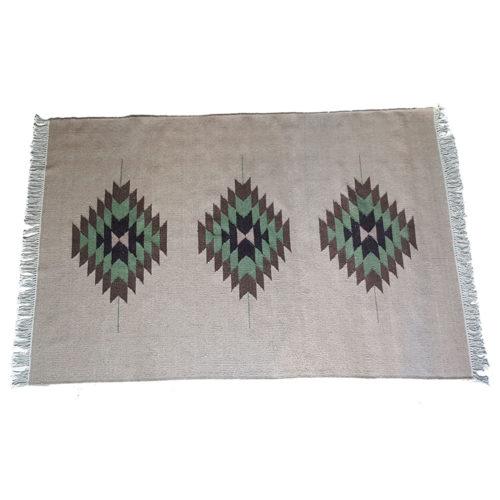 joshua tree wool dhurrie rug, handmade in india, eco & fair. new zealand wool, organic dyes, Bonam Home