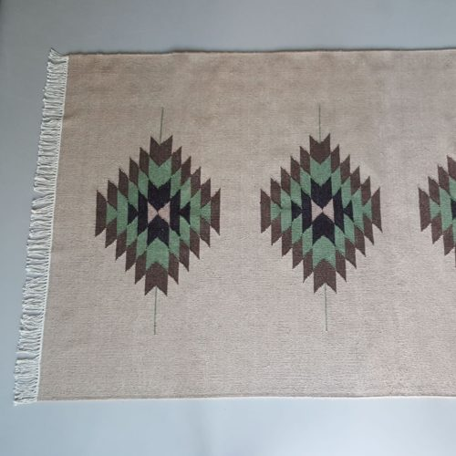 joshua tree wool dhurrie rug, handmade in india, eco & fair. new zealand wool, organic dyes, Bonam Home