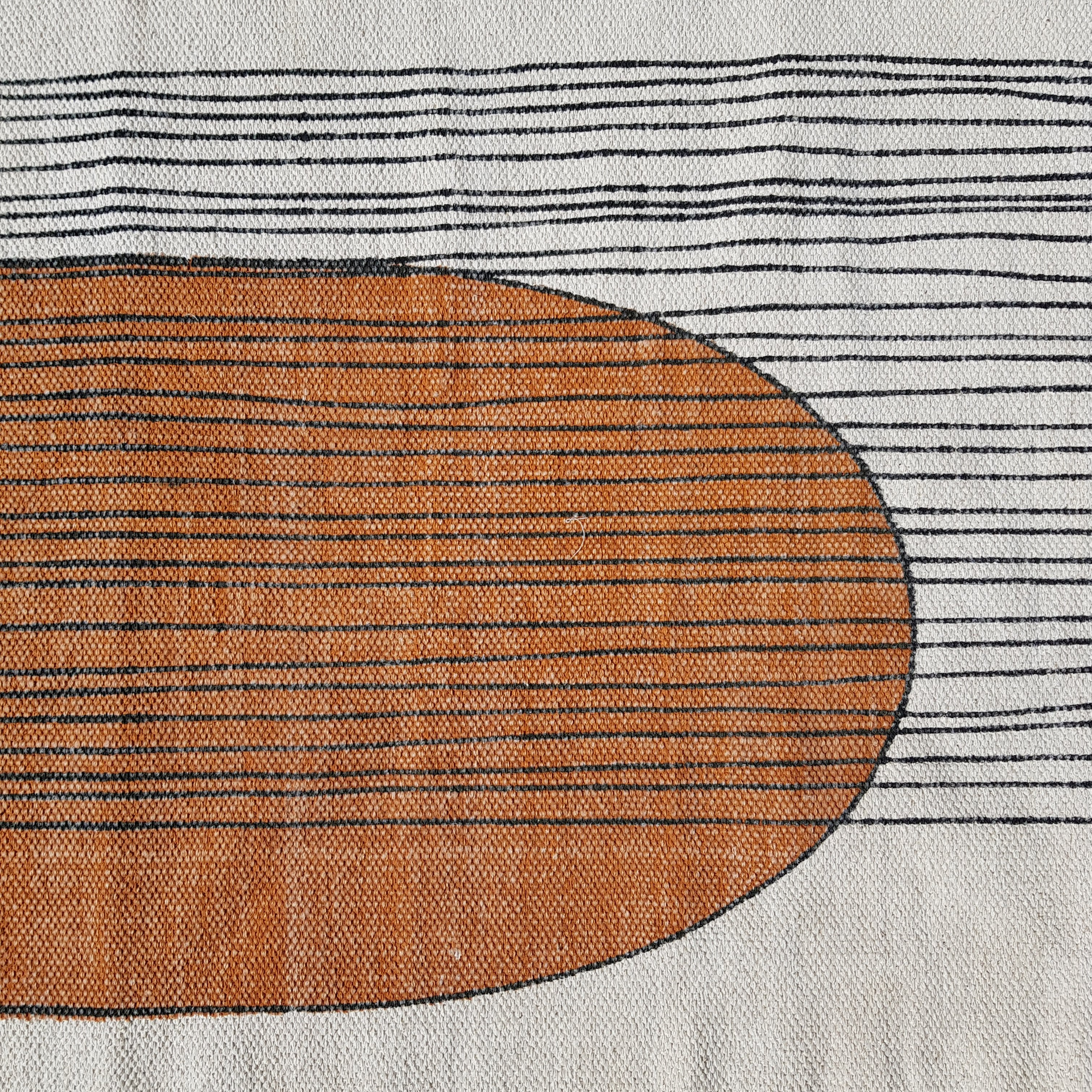 Handmade Rug With Burnt Orange Print Bonam Home
